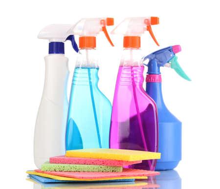 celulosa: Esponjas de celulosa y los aerosoles aislados en blanco