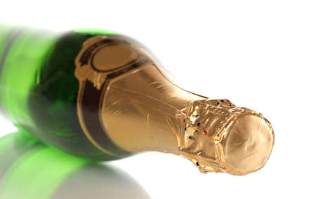 Bottle of champagne isolated on white Stock Photo - 13162941