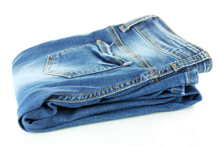 blue jeans: blue jeans isolated on white