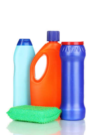 cleaning products: Cleaning items isolated on white