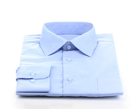 mans shirt: New blue mans shirt isolated on white