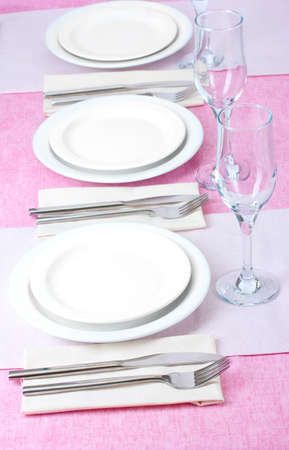 elegant holiday table setting Stock Photo - 13356212