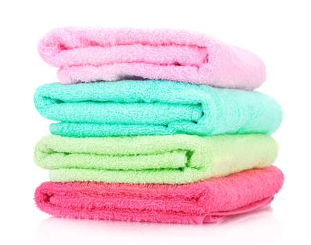 colorful towels isolated on white Stock Photo - 13356075