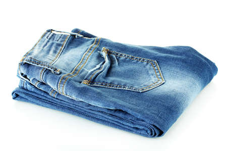 blue jeans isolated on white photo