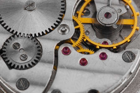 Clock mechanism close-up Stock Photo - 13370254