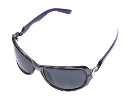 Women black sunglasses isolated on white photo