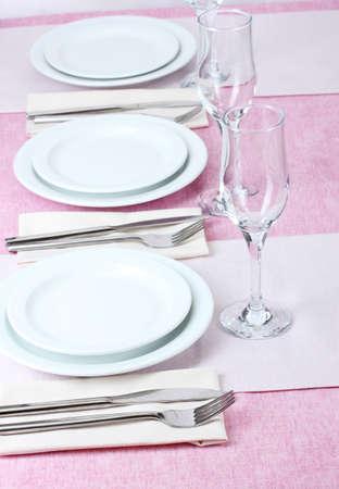 elegant holiday table setting Stock Photo - 13438117