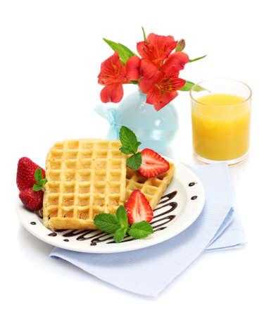 light breakfast isolated on white Stock Photo - 13437774