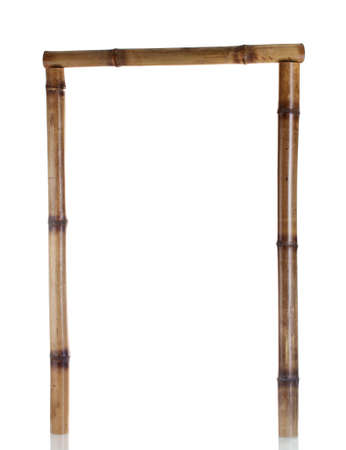 bamboo frame isolated on white photo