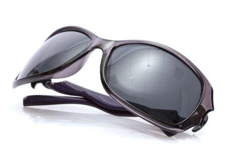 sunglasses: Mujeres gafas de sol negro aislado en blanco