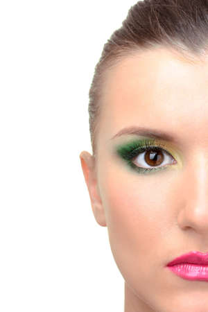 portrait of beautiful woman   with bright make-up photo