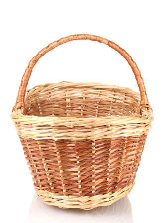 empty basket isolated on white Stock Photo - 13519191