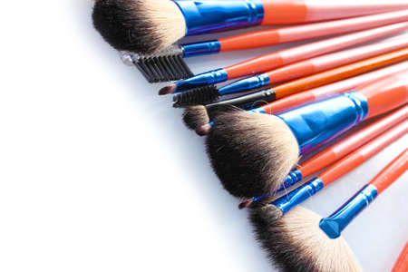 make-up brushes isolated on white Stock Photo - 13519058