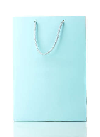 shoppingbag: blue shopping bag isolated on white