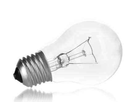 Light bulb isolated on white Stock Photo - 13600716