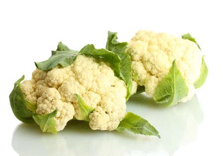Fresh cauliflowers isolated on white Stock Photo - 13687182