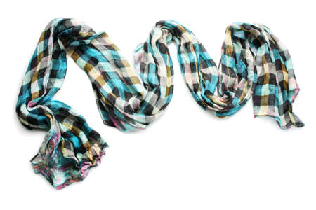 Beautiful scarf isolated on white Stock Photo - 13688293