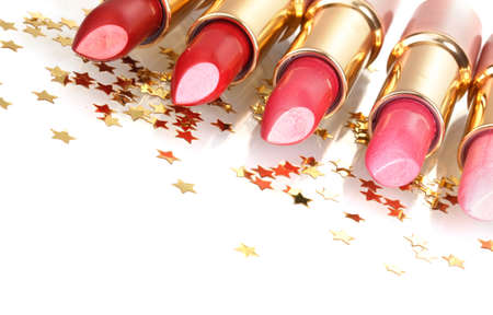beautiful lipsticks isolated on white Stock Photo - 13810175