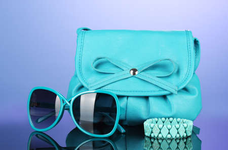 womens fashion: Womens fashion accessories on bright colorful background