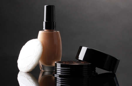 cosmetics isolated on black Stock Photo - 13837728