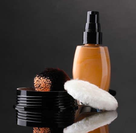 cosmetics isolated on black Stock Photo - 13837656