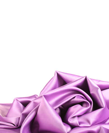 violet silk drape isolated on white photo