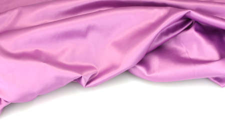 purple silk drape isolated on white Stock Photo - 13870827