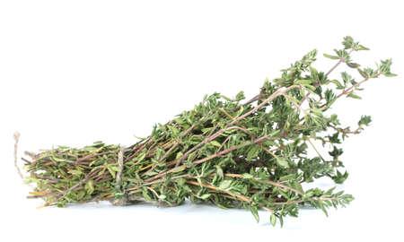 fresh green thyme isolated on white Stock Photo - 13870477
