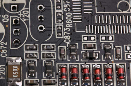Modern electronic board close-up photo