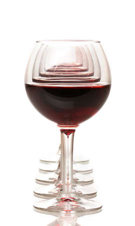 claret: Wineglasses isolated on white Stock Photo