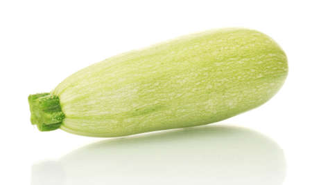 squash isolated on white background close-up photo