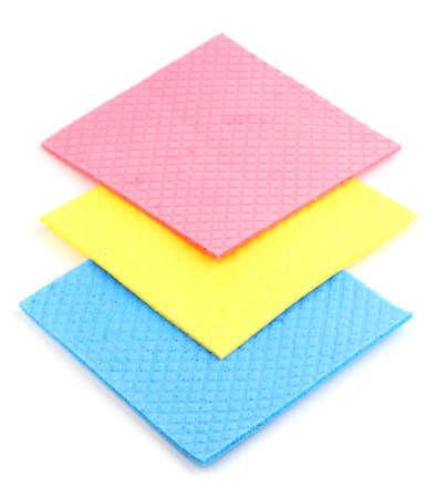 cellulose: Esponjas de celulosa aislado en blanco