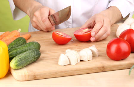 Chopping food ingredients Stock Photo - 13904756