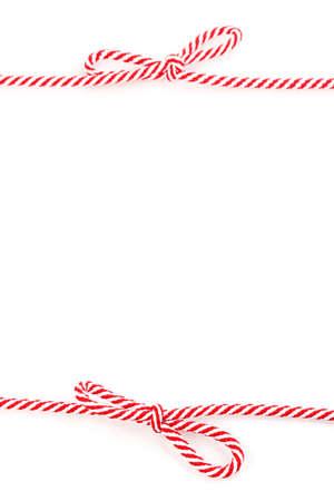 Colorful shoelaces isolated on white photo