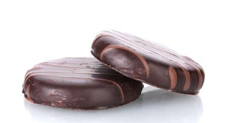 Сhocolate cookies isolated on white
