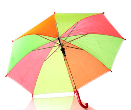 Multi-colored umbrella isolated on white