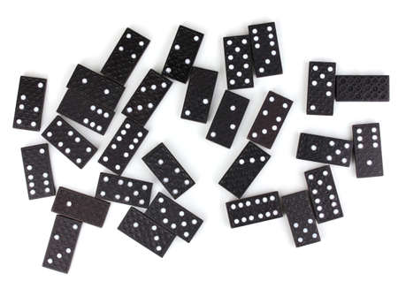 Dominoes isolated on white photo