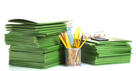 Green folders isolated on white Stock Photo - 13994314