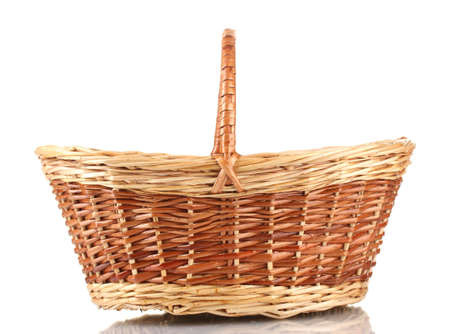 empty basket isolated on white photo