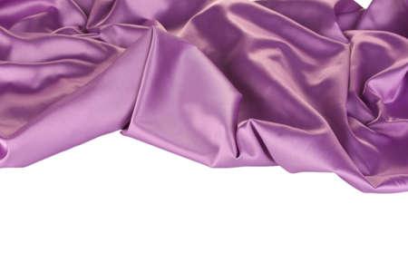 purple silk: pa?o de seda p?rpura aislado en blanco Foto de archivo