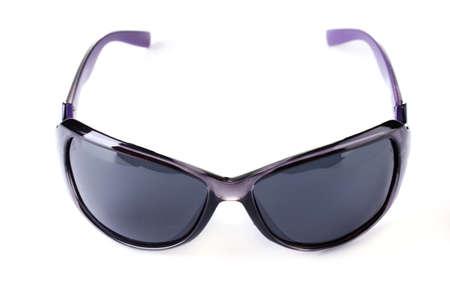 girlie: Women black sunglasses isolated on white