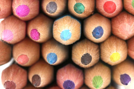 Color pencils close-up photo