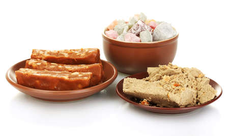 sorbet: East słodycze - Chałwa i Turkish Delight na białym