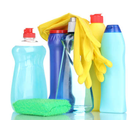 Cleaning items isolated on white Stock Photo - 14114993