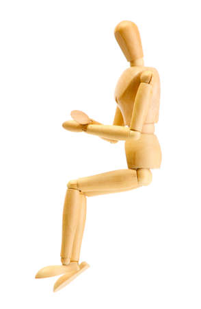 wooden mannequin isolated on white Stock Photo - 14114141