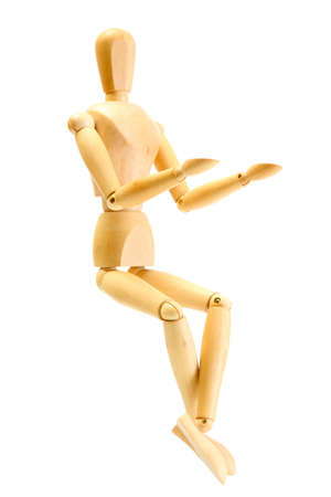 wooden mannequin isolated on white Stock Photo - 14114196