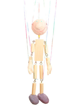 Wooden puppet isolated on white Stock Photo - 14157442