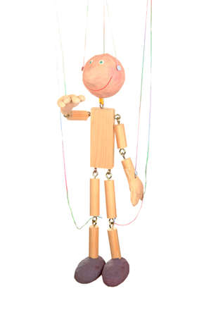 Wooden puppet isolated on white Stock Photo - 14157445