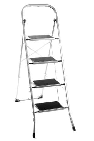 metal ladder isolated on white photo