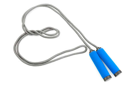 skipping rope isolated on white  photo